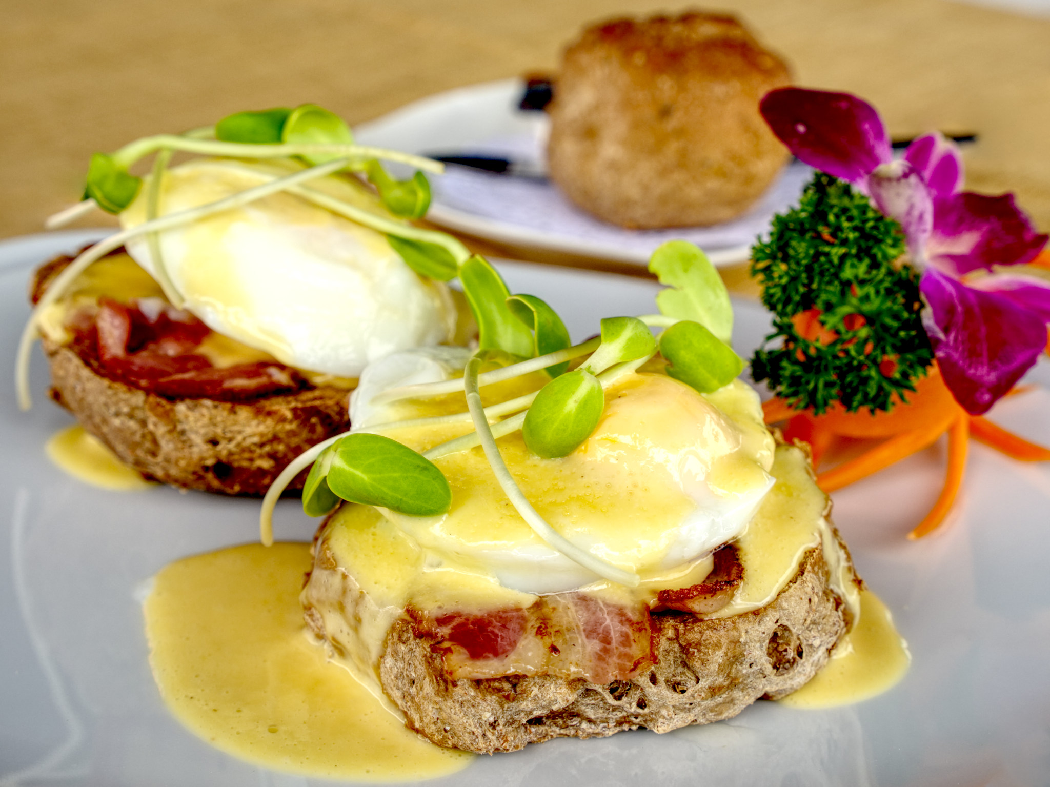 photograph of eggs benedict